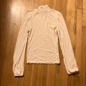 Tight cream long sleeve